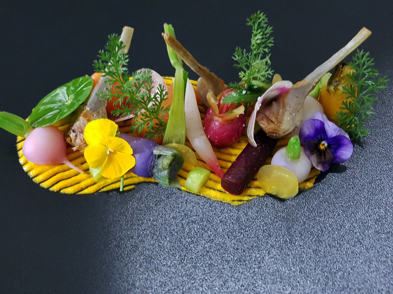 plate of vegetables hotel gex
