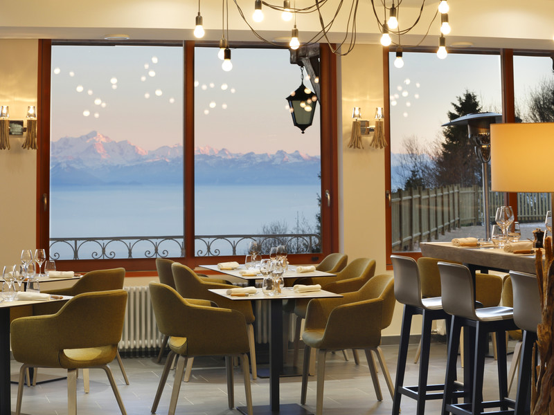 Restaurant room with view, restaurants Gex, La Table de la Mainaz