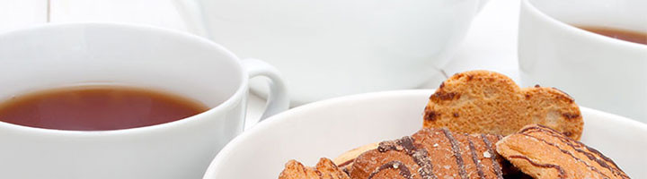 Tea and cookies, restaurant near geneva, La Mainaz.