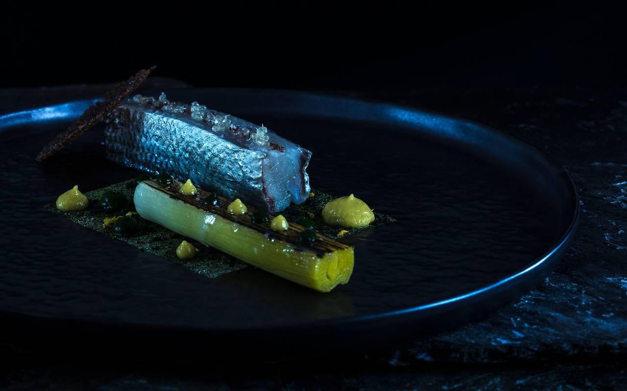 Fish dish, Geneva wedding venues, hotel La Mainaz