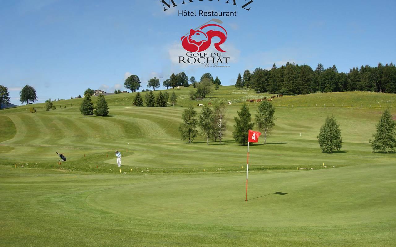 Golf course, Jura accommodation, La Mainaz