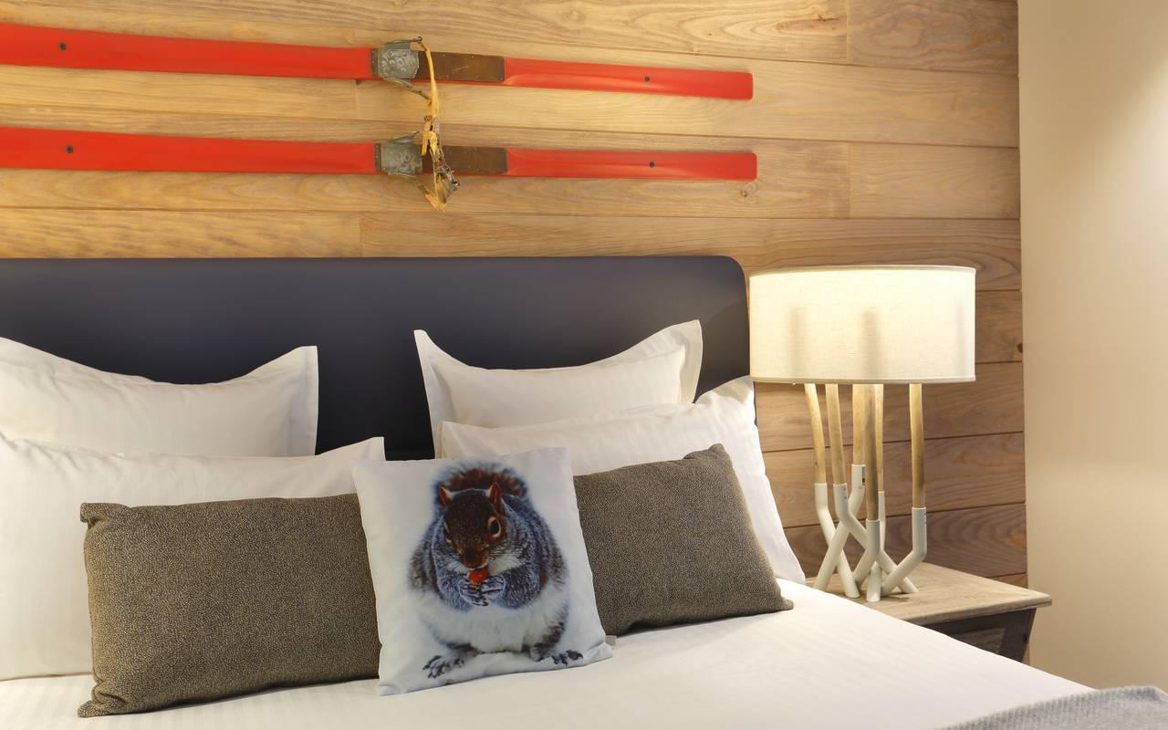 Comfortable double bed, hotel geneva airport switzerland, La Mainaz.