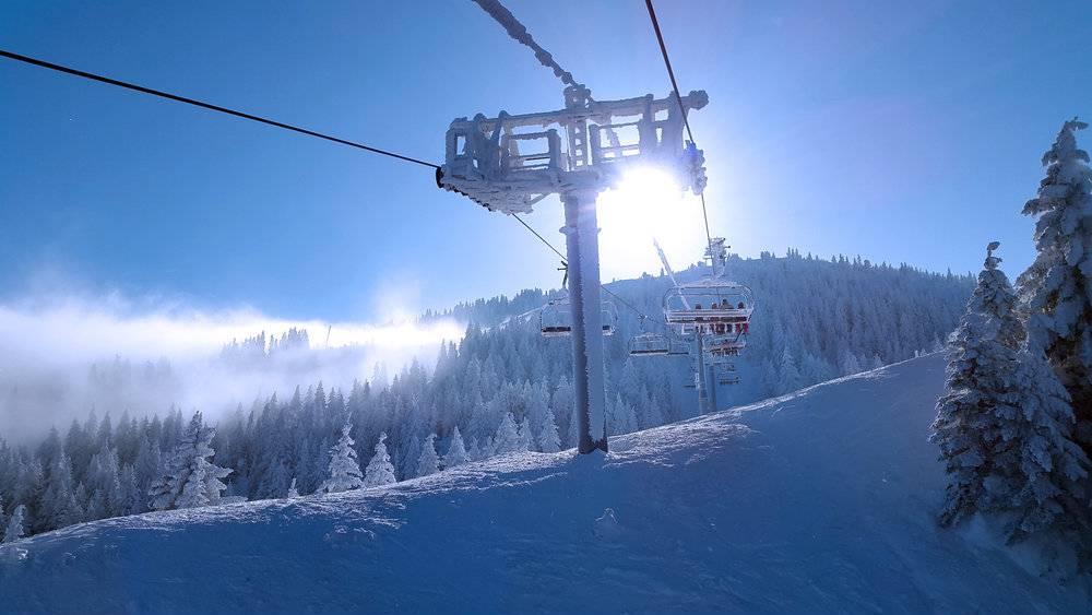 Mountain with chair lift, Geneva wedding venues, hotel La Mainaz