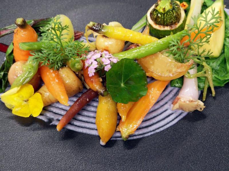 assiettes de légumes hotel gex