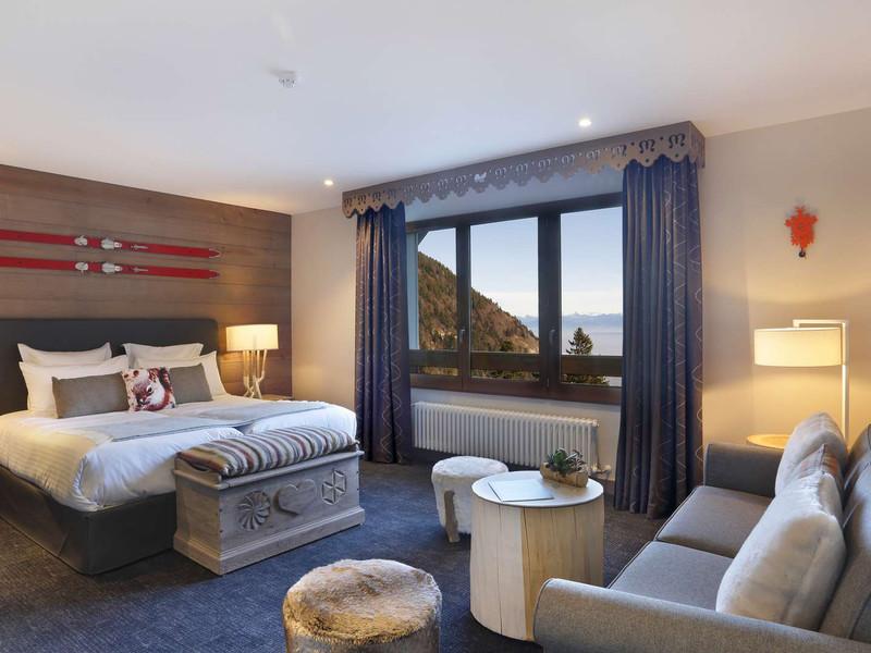 Suite avec coin salon, hôtel mijoux, La Mainaz