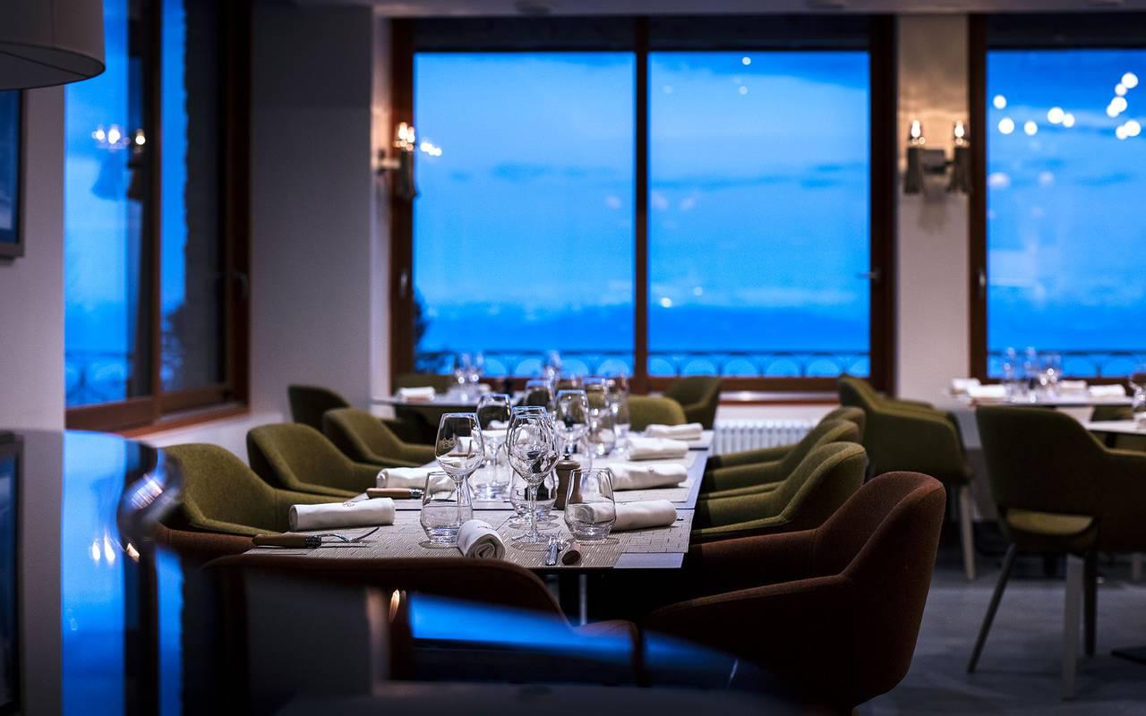 Restaurant éltoilé, hôtel mijoux, La Mainaz