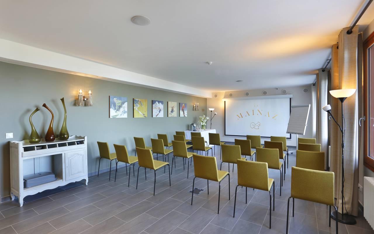 Salle pour conférence, hôtel Mijoux, La Mainaz