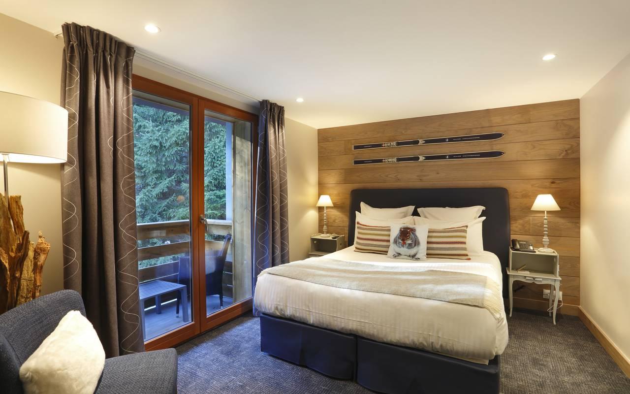 Chambre deluxe avec lit double, hotel luxe geneve, La Mainaz.