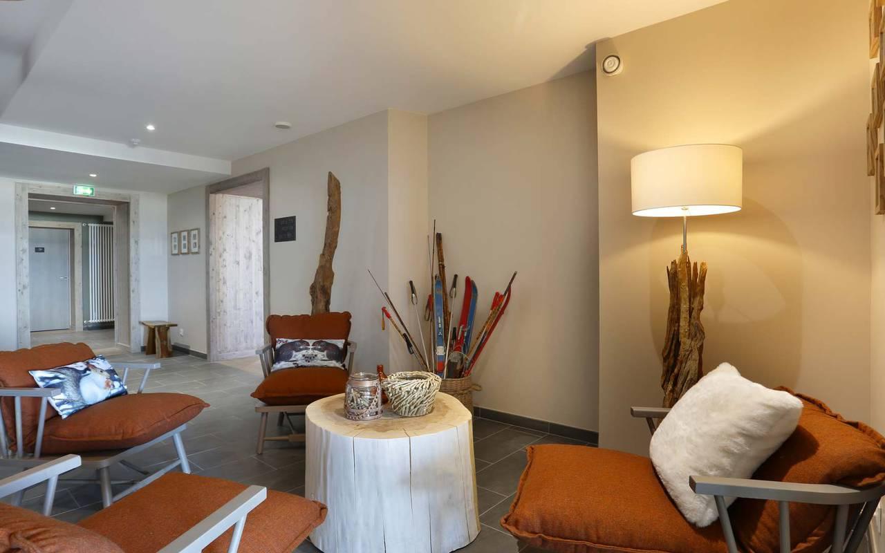 Salon, hôtel Mijoux, La Mainaz