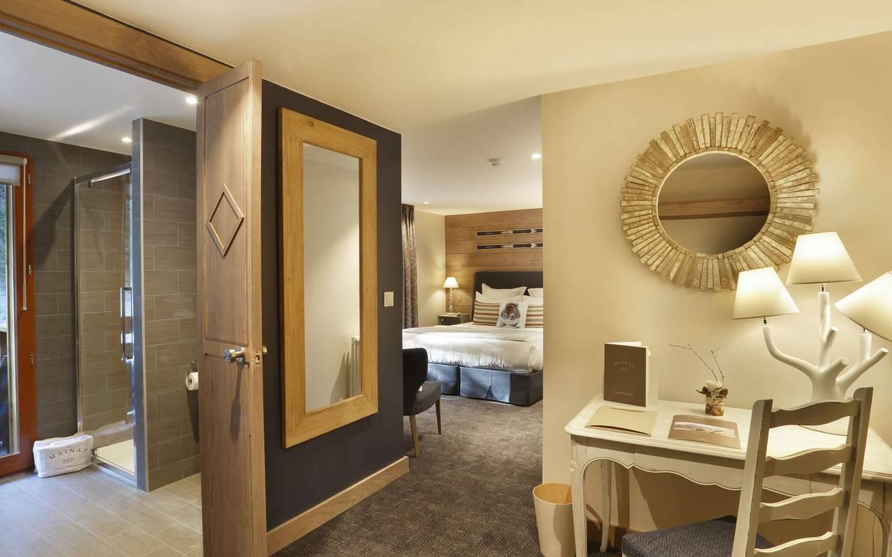 Chambre moderne, hôtel mijoux, La Mainaz