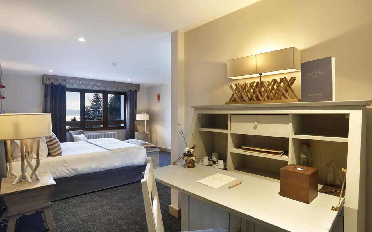 Vue de la chambre, hôtel mijoux, La Mainaz