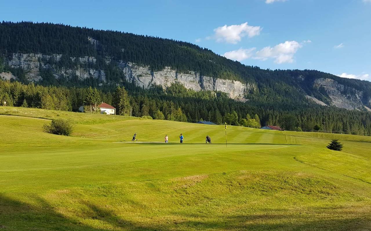 Parcours de golf, hôtel mijoux, La Mainaz