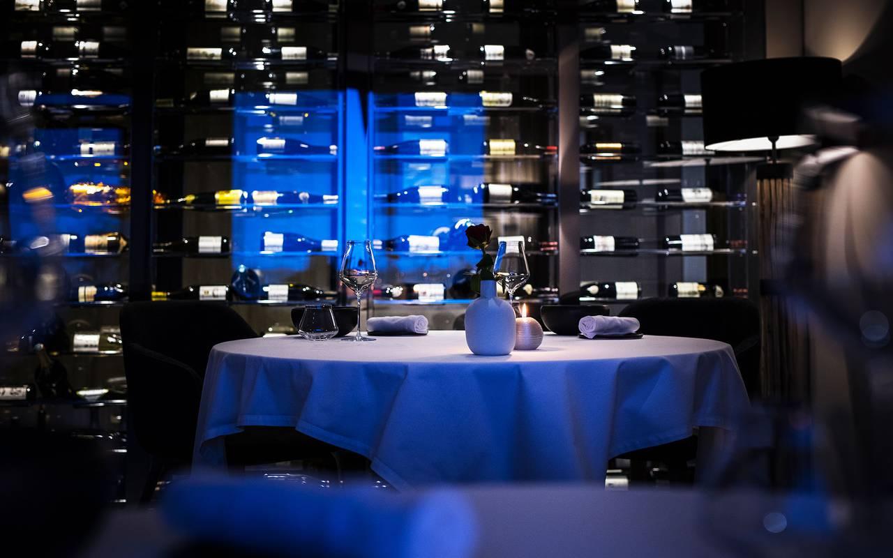 Cave à vin, hôtel Mijoux, La Mainaz